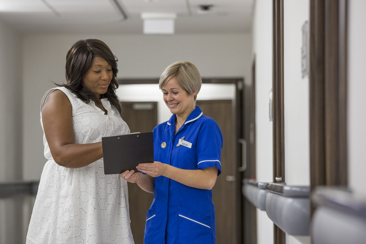 Nurse With Patient In St Andrew's Ward